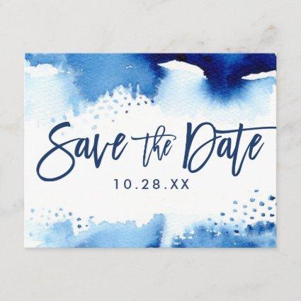 cool navy blue watercolor