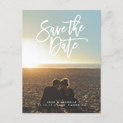 Save the date Cards script wedding collection