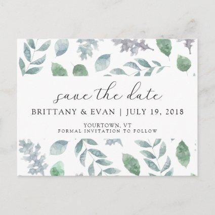Save the Date Cards Watercolor Floral Boho