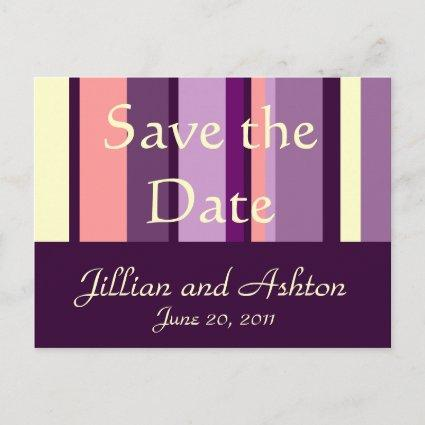 Save the Date  Pink Purple Pattern