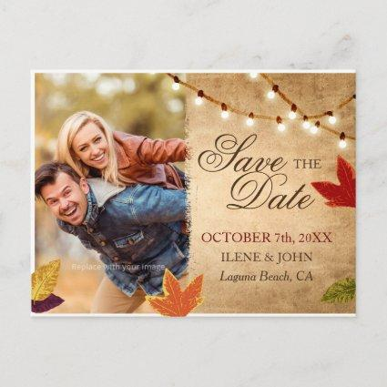Save the Date Cards | Rustic Autumn Wedding