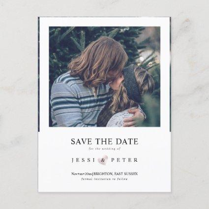 Save the Date, retro instant camera photo frame Announcement