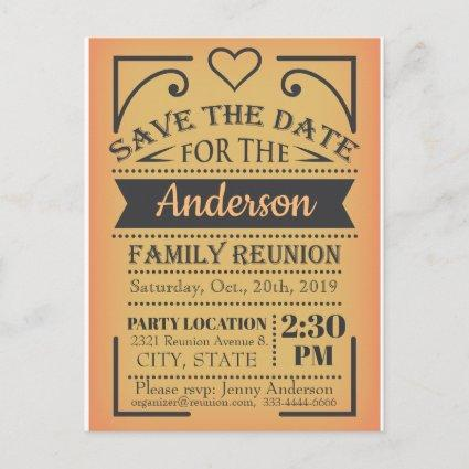 Save the Date reunion design Announcement