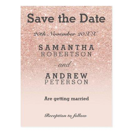 rose gold faux glitter pink ombre Cards