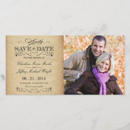 Save the Date Rustic Vintage Weddings