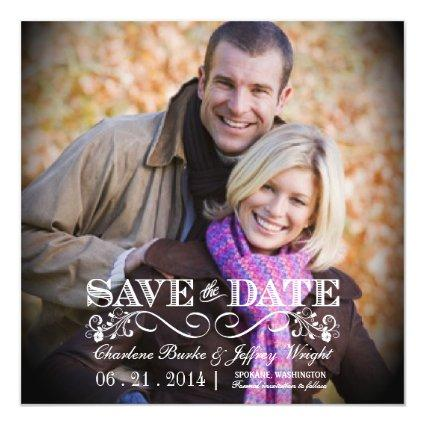 Save the Date Rustic Wedding Magnetsic Magnetsic Invitation