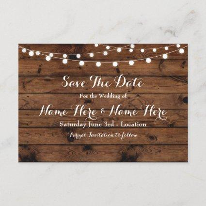 Save The Date Rustic Wood Rustic Elegant Invite