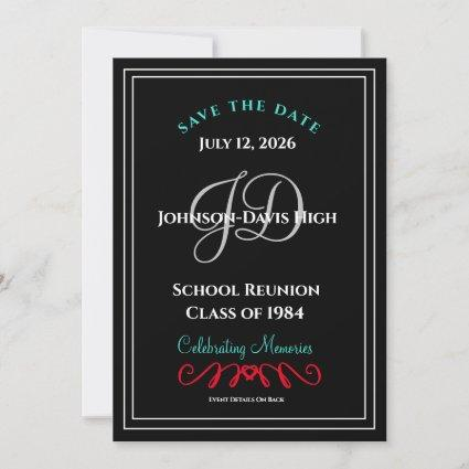 Save The Date School Class Formal Reunion