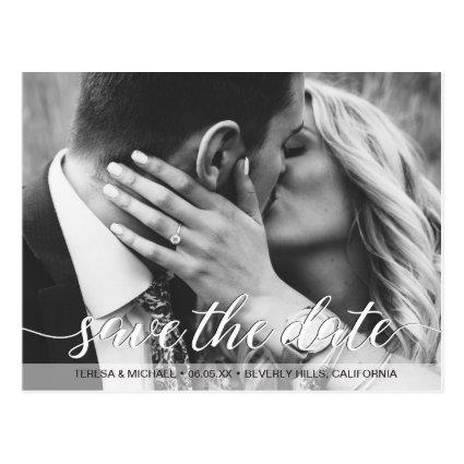 Save the Date script | Engagement photography Cards