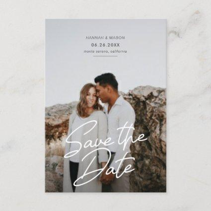 Save the Date Simple Smooth Script Announcement