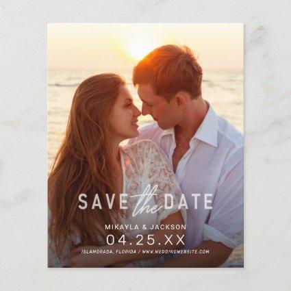 Save the Date Simple Statement Budget Wedding