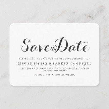 Save the Date | Simplistic Mod White Dark Grey