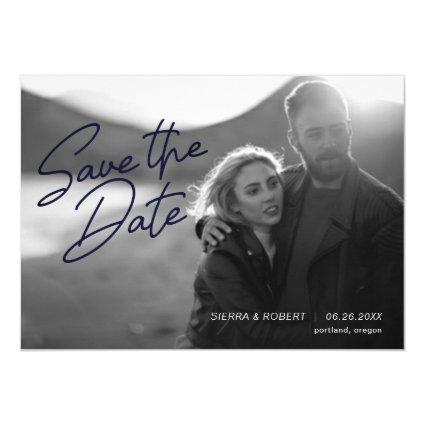 Save the Date Smooth Script Wedding Announcement