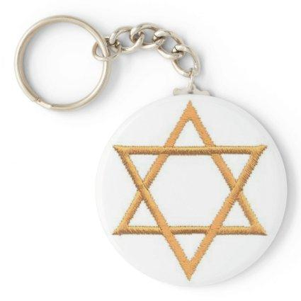 Save the Date/Star of David Keychain