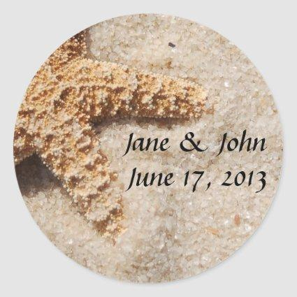 Save the Date Starfish Envelope Seals