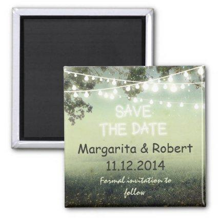 save the date string lights magnets