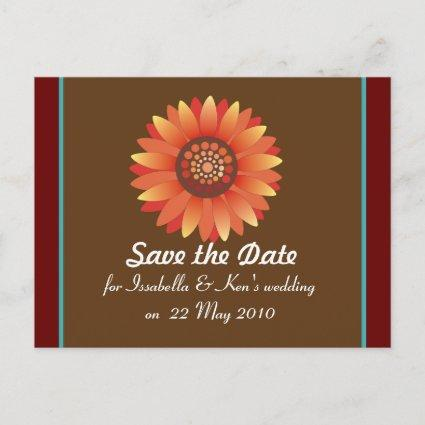 Save the Date sunflower template