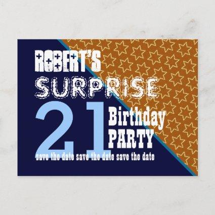 birthday surprise party save date save the date cards save the