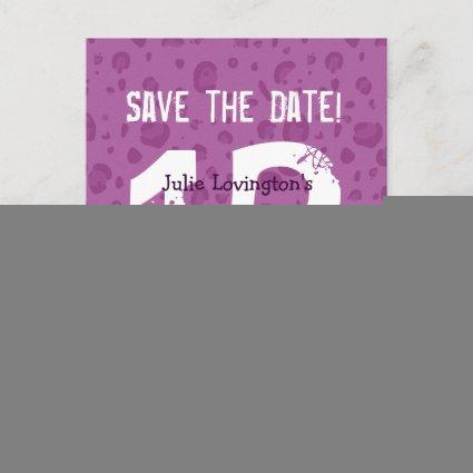 Save the Date Sweet at 13 Birthday Party V03B1 Announcement