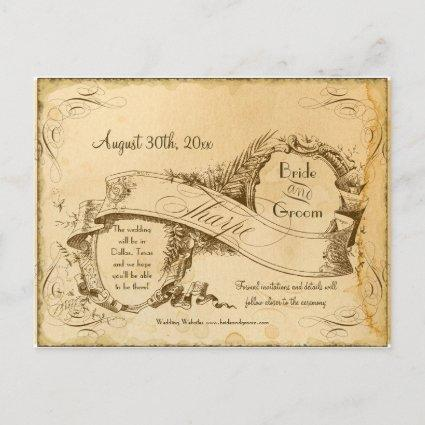 Save the Date - Tea Stained Vintage Tharpe 3 Announcement