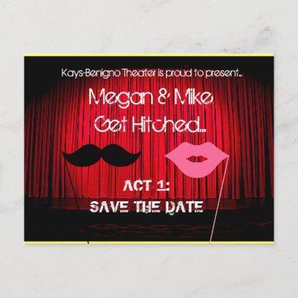 Save the Date Theater Wedding Announcement
