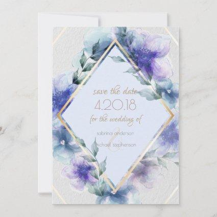 Save the Date | Translucent Watercolor Flowers
