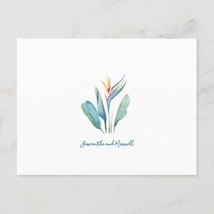 Save The Date Tropical Watercolor