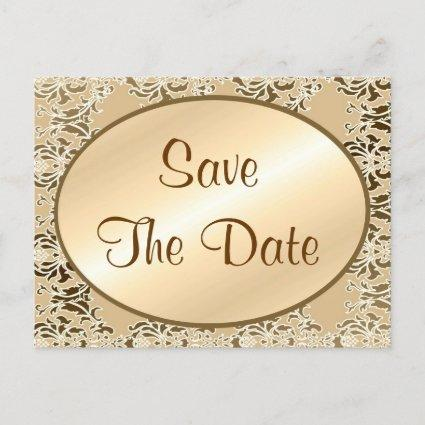 Save The Date Vintage Damask s