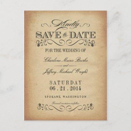 Save the Date Vintage Parchment