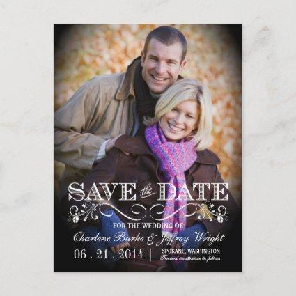 Save the Date Vintage Photo  WT313