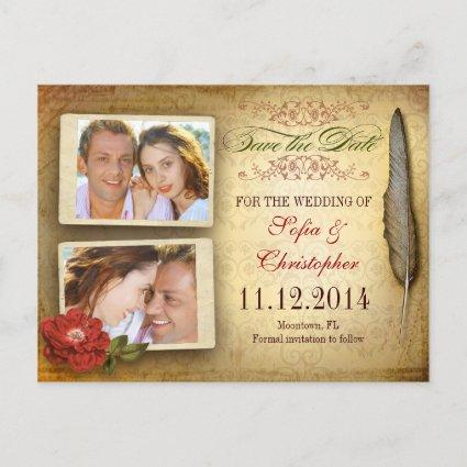 save the date vintage  with photos