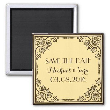 Save The Date Vintage Wedding Magnets