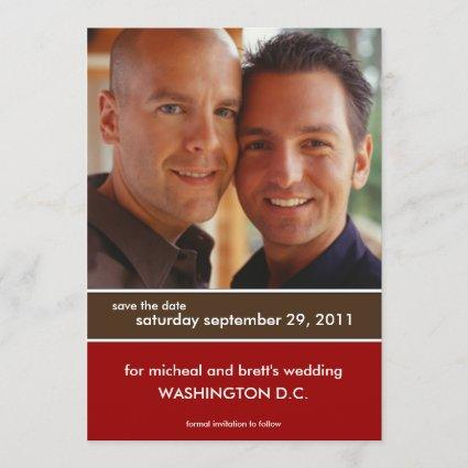 Save the Date Wedding Announcements {Color Block}