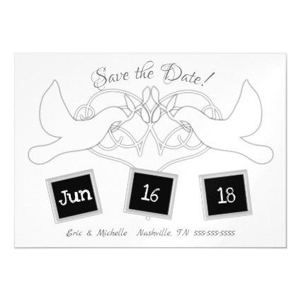 Save the Date Wedding Doves Magnetsic Invitation