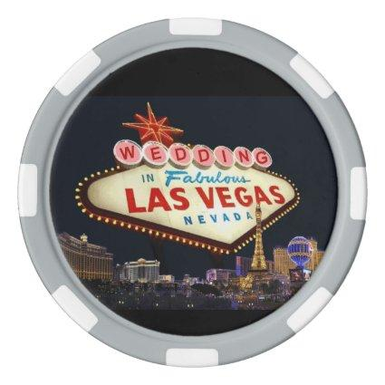 Save the Date Wedding In Las Vegas Poker Chip