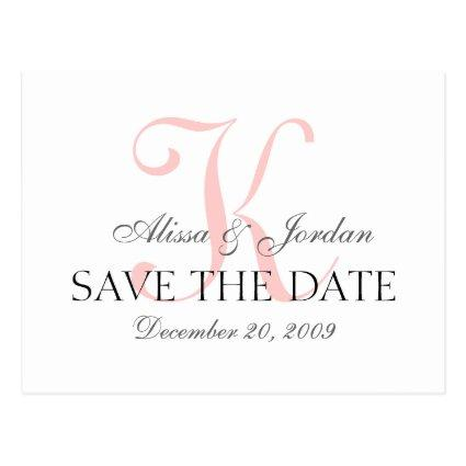 Wedding Monogram Announcements Cards