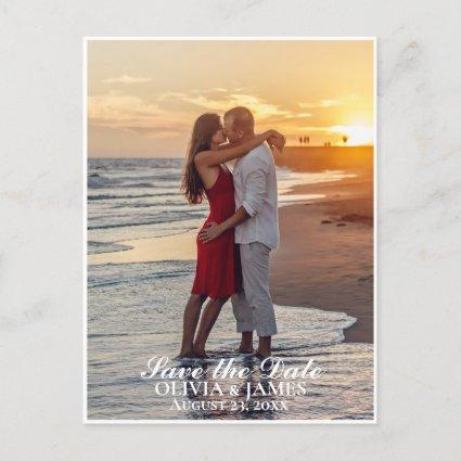 Save The Date Wedding Photo Announcement