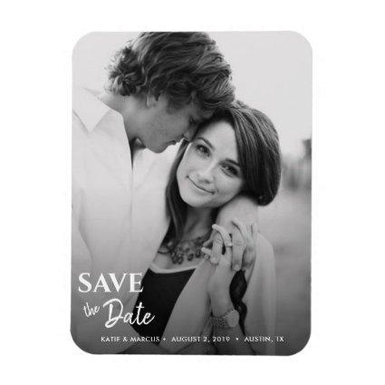 Save the Date Wedding Photo Personalized Magnet
