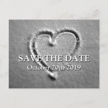 Save the date wedding    Drawn heart