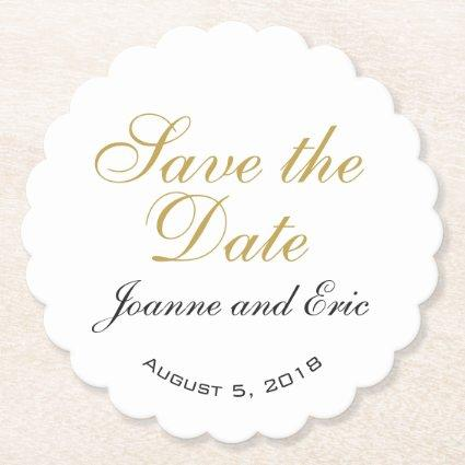 Save the date wedding pub custom coaster