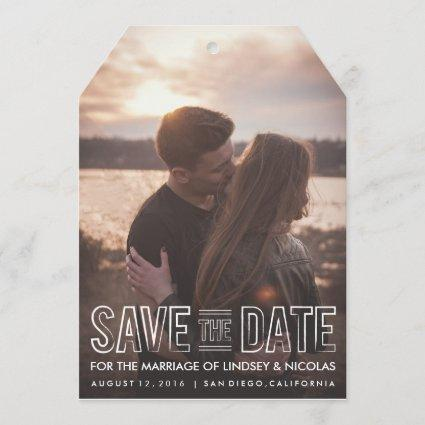 Save The Date Wedding Tag