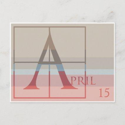 Save the Date with a Very Typographic April Announcement