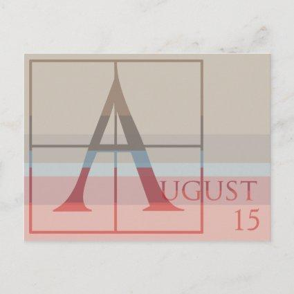 Save the Date with a Very Typographic August Announcement