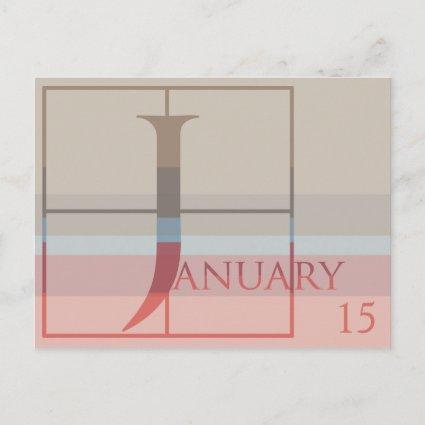 Save the Date with a Very Typographic January Announcement