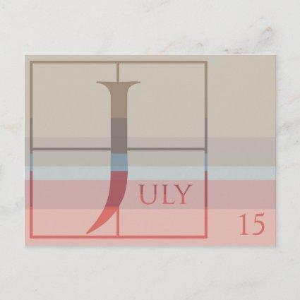 Save the Date with a Very Typographic July Announcement