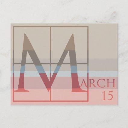 Save the Date with a Very Typographic March Announcement