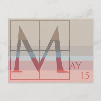 Save the Date with a Very Typographic May Announcement