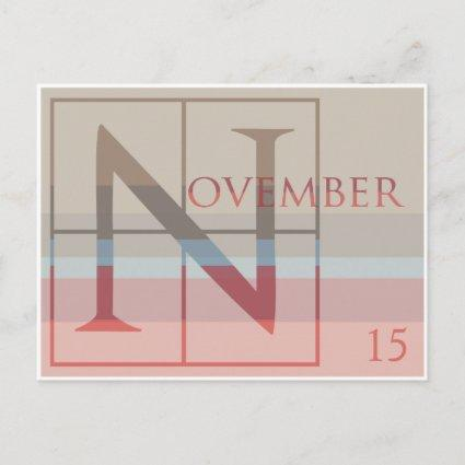 Save the Date with a Very Typographic November Announcement