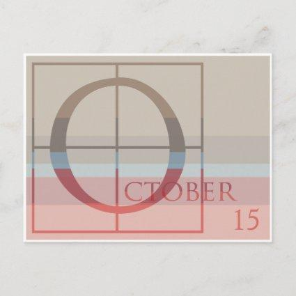 Save the Date with a Very Typographic October Announcement
