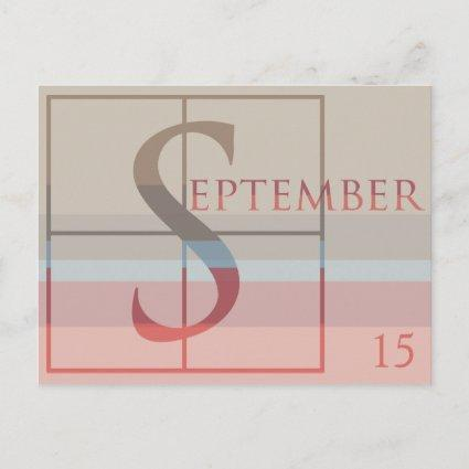 Save the Date with a Very Typographic September Announcement